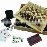 5 in 1 wood game set printing chess game set multifunction chess board