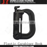 50mm Carabiner Clip/POM Plastic Carabiner for Backpack/plastic D carabiner
