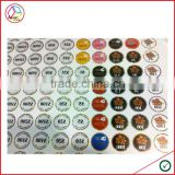High Quality Number Stickers For Poker Chip