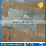 yellow and black mixed cement back culture stone stacked veneer stone panel for wall cladding