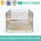 Industry stackable wire mesh pallet cage