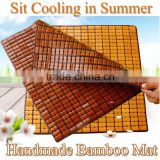 2016 summer factory wholesale bamboo cooling chair mat