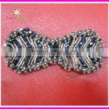 Beaded rhinestone applique