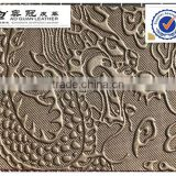 Chinese dragon pattern pvc dector leather for furniture decorative