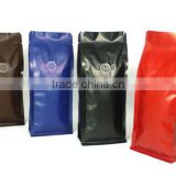 eight side sealed/quad sealed bag/pouch for coffee bean with one-way degassing valve