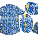fashion african latest mens t shirt design 2016 ghana kente wax fabric man shirts for business