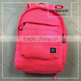Hot pink nylon lining fabric air mesh fabric backpack bag