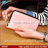 Korean design crown wallet Brand hand smart cell phone zip long pouches quality handbag