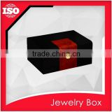 Luxury black wooden mirrored jewelry box with drawers