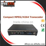 Dibsys newest mini mpeg2 to h.264 transcoder for video to IP tv converter on IOS /Android phone
