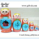 christmas wooden russian nesting dolls