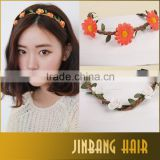 Hot Selling Daisy Hairband Flower Headbands Wedding Festival Elastic Flowers Girl's Hair Accessories
