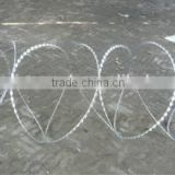 Galvanized Surface Treatment and Barbed Wire Mesh Type low price concertina razor barbed