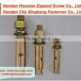 zinc plated expand sleeve anchor bolt with hex nut