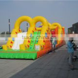 inflatable bouncer obstacle course,inflatable combo slide obstacle,inflatable obstacle course for kids                                                                         Quality Choice