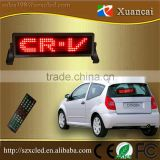 12 Voltage power 8x48 dot led sign with scrolling message function, car led sign by Bluetooth/Remote/USB coummunication control                                                                                                         Supplier's Choice