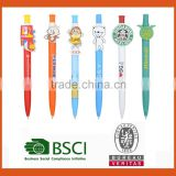2016 custom clip pen,cute plastic pen with custom clip,cartoon pen clip                                                                         Quality Choice