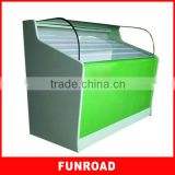 Creative design MDF tempered glass tobacco and cigarette display showcase with LED light