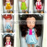 12 inch fashion vinyl doll toy with Gold, brown, black hair