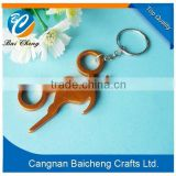 2015 zinc alloy metal can openers keychains for teenagers and kids as the best festival gifts in fancy design for your own wine