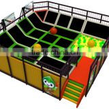 amusement park adventure equipment t trampoline with basketball area playground for children and adults