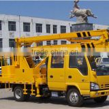 Manual transmission ISUZU 14M aerial working platform truck with best price and high quality