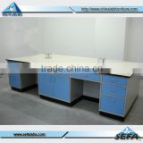 School Electronical Laboratory Work Bench with Drawers Steel Work Table Experimental Work Desk
