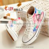 NO.Z108C Customized Fashional wholesale comfortable fancy stylish new design canvas high top sneakers shoes 2016
