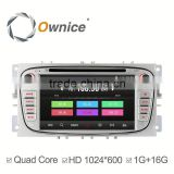 Ownice Wholesales Quad Core Android 4.4 Car DVD Player For FORD FOCUS MONDEO S-MAX built in wifi support rear camera