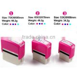 colorful Self Inking pocket Rubber Stamp,custom name /address signature rubber stamp