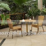 elegant bamboo like outdoor dining set
