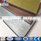 Building material Brushed Aluminum composite board 4x8 plastic sheets best price