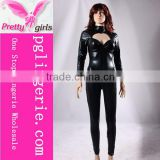 Black Leather Bodysuits For Woman,Black Leather Bodysuit