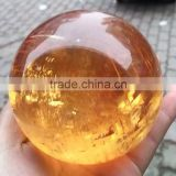 Beautiful natural polished iceland spar crystal ball/sphere for sale,orange calcite crystal ball
