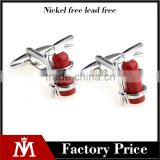 Novelty brass fire extinguishers cufflinks for men's gift