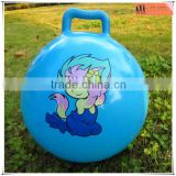 blue custom sticker inflatable jump hop ball,custom design bouncer hop ball outdoor ball,OEM outdoor ball toys manufacturer