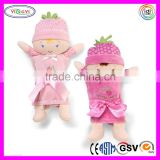 B061 Eco Friendly Newborn Baby Wrapper Set Doll Stuffed Soft Doll with Towels