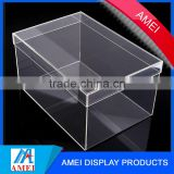 Transparent plexiglass acrylic storage and display shoe sneaker box