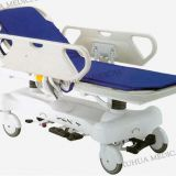 Multi-Function Hydraulic Hospital Patient Transfer Stretcher Trolley with ABS mattress Platform, X-ray Transparent Model