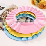 baby shower cap hat silicone shield tearless shower food grade silicone