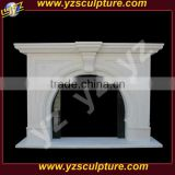 hand carving modern art marble fireplace surround for home using