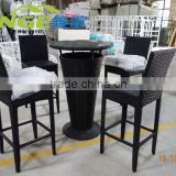 Competitive price factory directly wicker garden rattan bar stool balcony furniture set