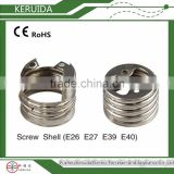 e40 e39 e27 e26 copper brass aluminum screwshell / electrical table lamp holder parts fittings