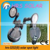 Solar powered led spot light with remote controller