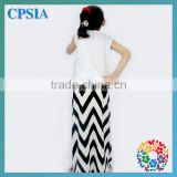 2014 New Design Cotton Girl Chevron Maxi Dress Pictures Of Long Skirts