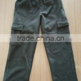 Men's,Boy's and Kid's fleece cargo pants with piping fleece pant