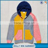 Zipper ruglar mens fleece hoodie from karachi in color blocked