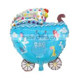 Party Supplies Party Decorations Baby Carriage Multicolor Clothes Pattern Baby Shower Decoration Aluminium Foil Balloon