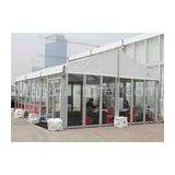 Custom White Small 6061 T6 Aluminum Alloy Rent Party Tent 6x 9m With Glass Wall