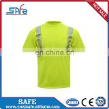 Men's Design high visibility lime green safety shirts